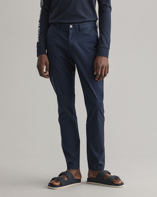 Pantaloni chino Hallden Sunfaded