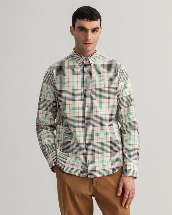 Camicia in twill a quadri pesante regular fit