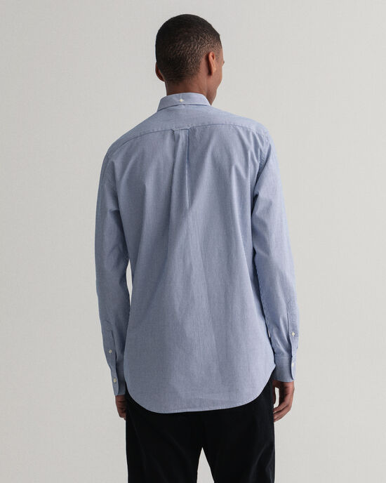 Camicia in broadcloth a righe Banker Contrast regular fit