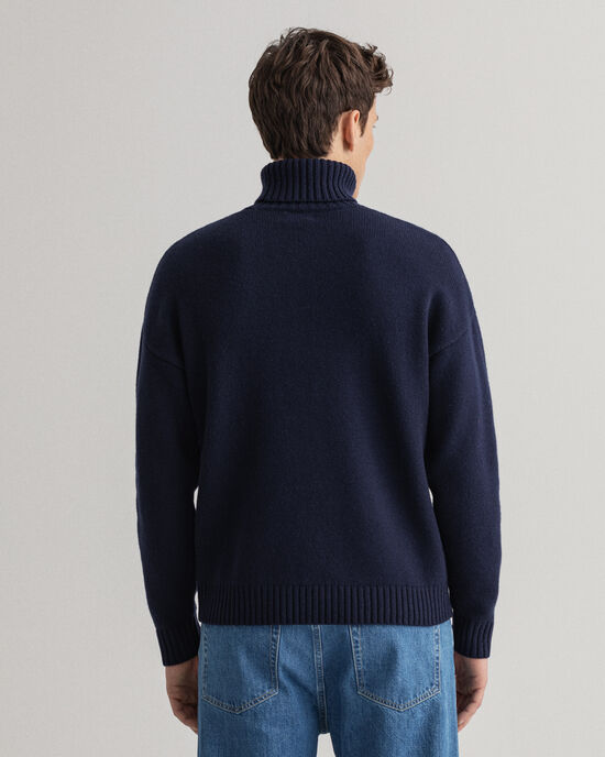 Maglia a collo alto in lana Graphic