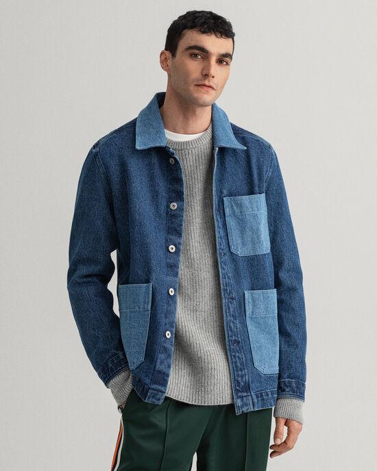 Camicia giacca in denim Contrast