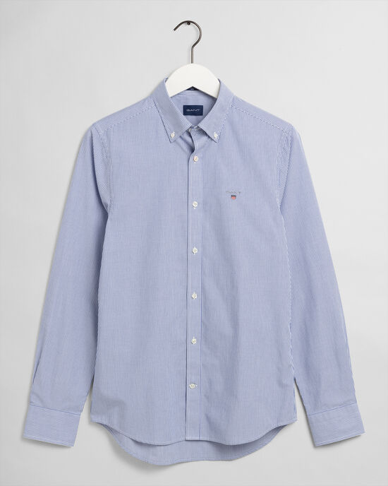 Camicia in broadcloth a righe Banker slim fit
