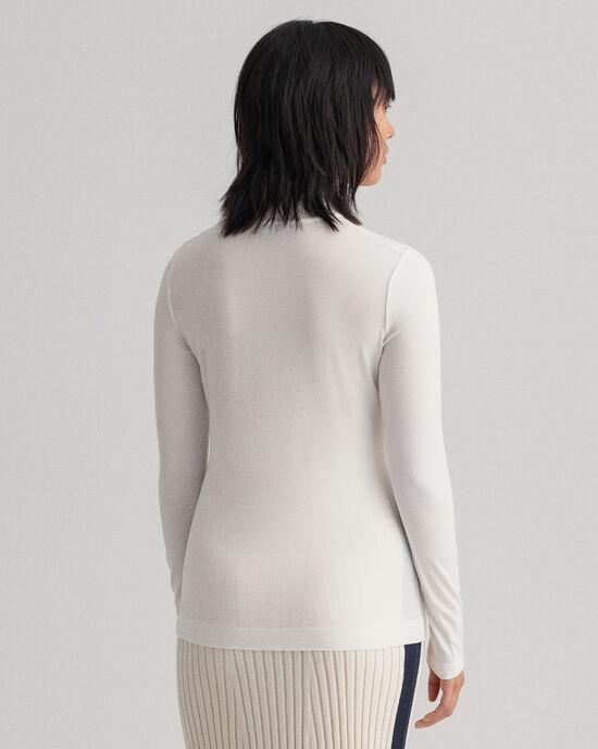 Maglia con collo alto in jersey