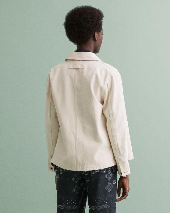 Giacca-camicia in cotone biologico