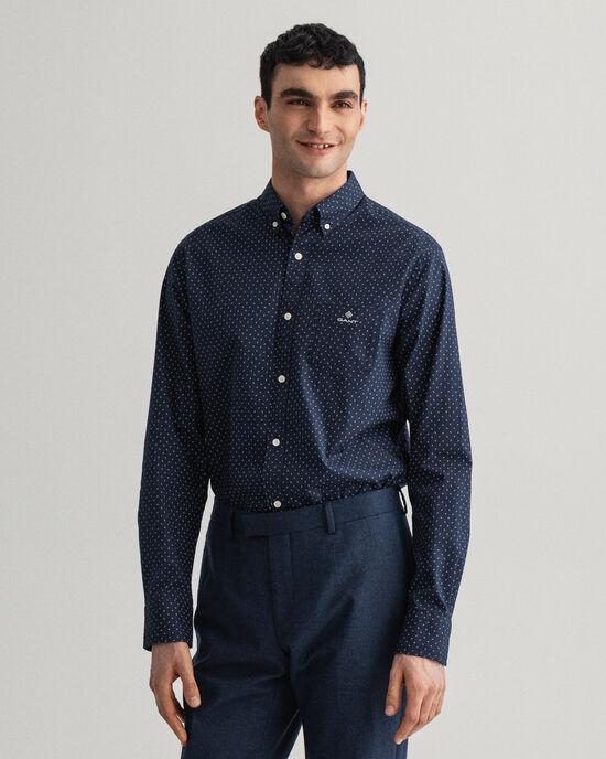 Camicia Oxford con motivo cachemire micro regular fit