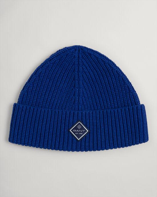 Cappello in maglia a coste in cotone