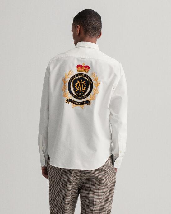 Camicia Crest con ricamo regular fit
