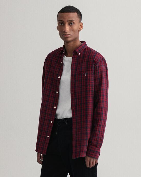 Camicia in flanella double-face regular fit