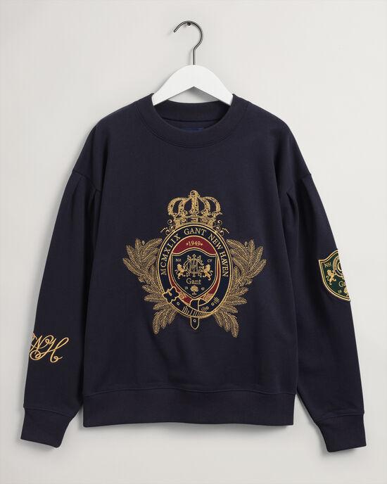 Felpa girocollo Royal Crest