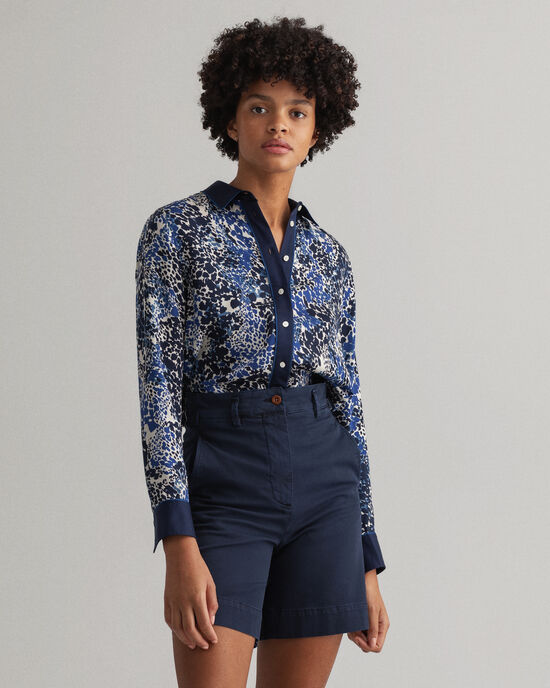 Camicia a pois regular fit