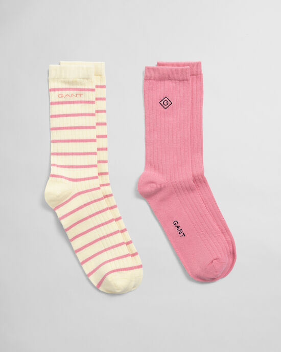 Confezione da 2 calzini tinta unita e a righe