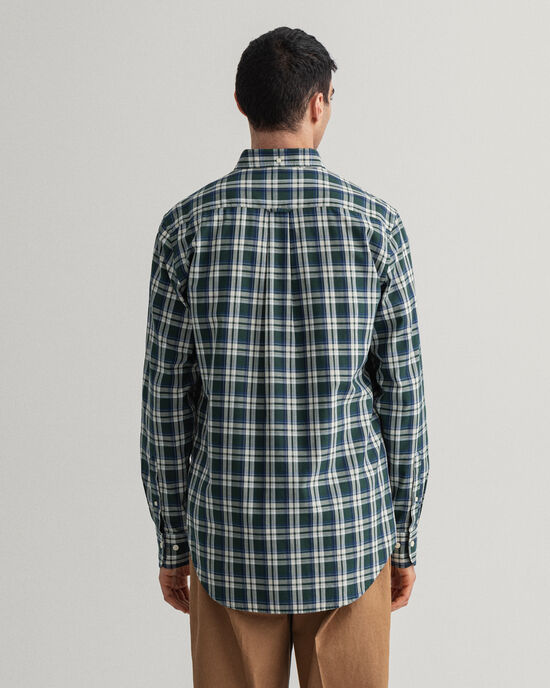 Camicia Oxford Tech Prep™ a quadri indaco regular fit