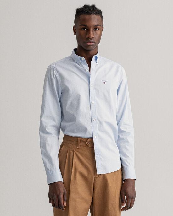 Camicia Oxford a ratiera a pois slim fit