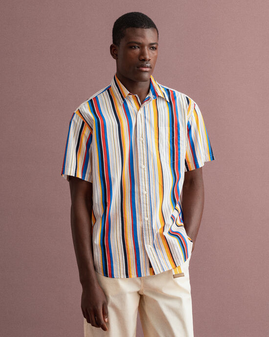 Camicia a righe vistose relaxed fit