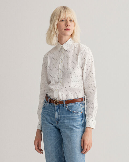 Camicia in broadcloth a pois Tech Prep™
