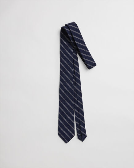 Cravatta in seta a righe e pallini