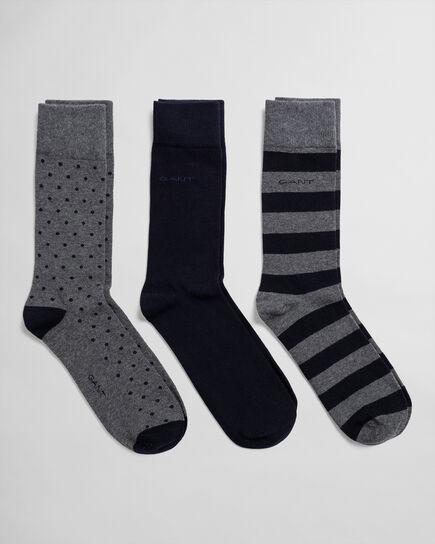 Confezione da 3 paia di calzini misti