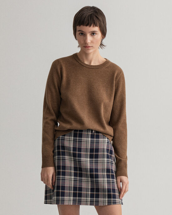 Maglia girocollo in lana d'agnello extrafine
