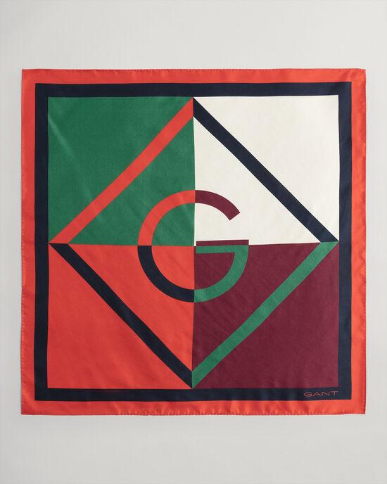 Foulard di seta Iconic G colorblock