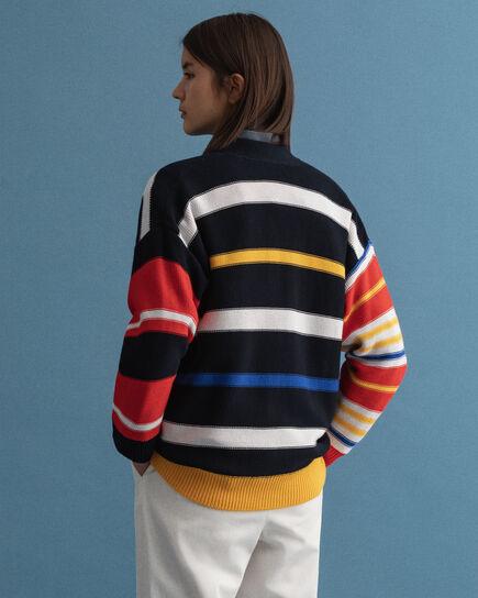Cardigan a righe multicolore