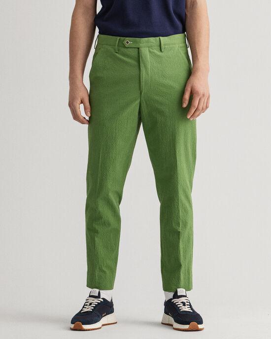 Pantaloni da abito in seersucker