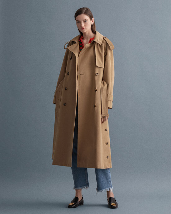 Trench in cotone oversize
