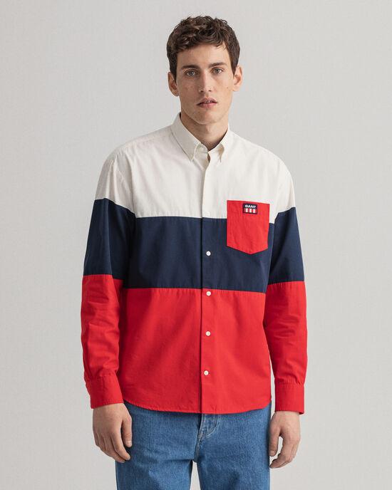 Camicia con pannelli a blocchi di colore relaxed fit