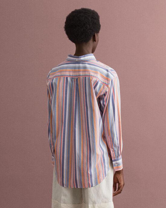Camicia Oxford pinpoint a righe multicolore