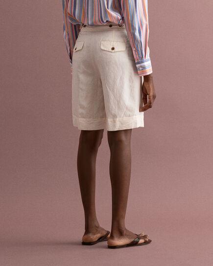 Pantaloncini lunghi in misto lino