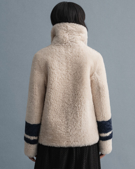 Cappotto in shearling double-face