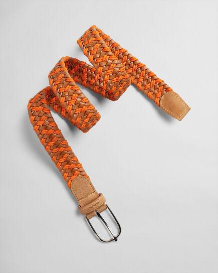 Cintura di corda e pelle intrecciata