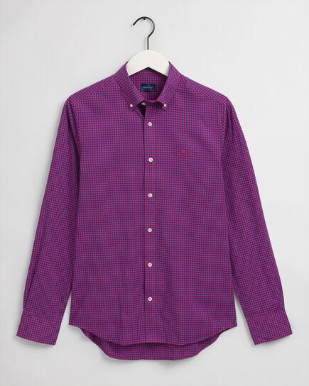 Camicia in broadcloth a quadri percalle 2 colori slim fit