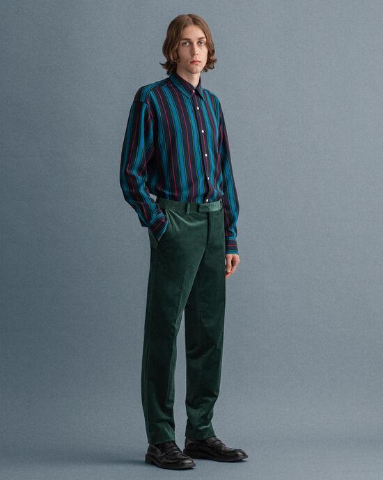 Pantaloni da abito in velluto