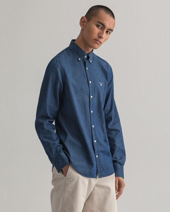 Camicia indaco slim fit