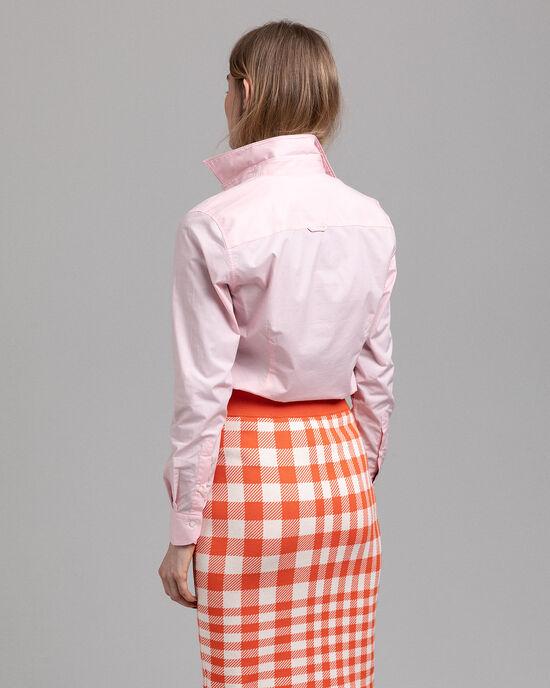 Camicia in broadcloth elasticizzato