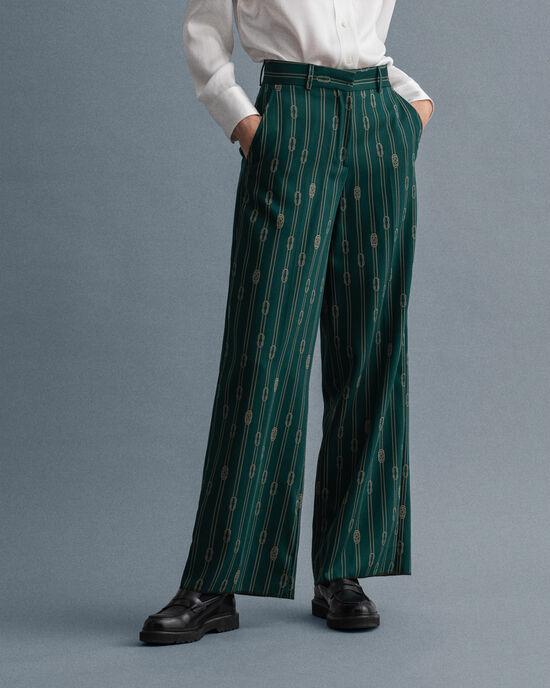 Pantaloni Rope Design gamba larga