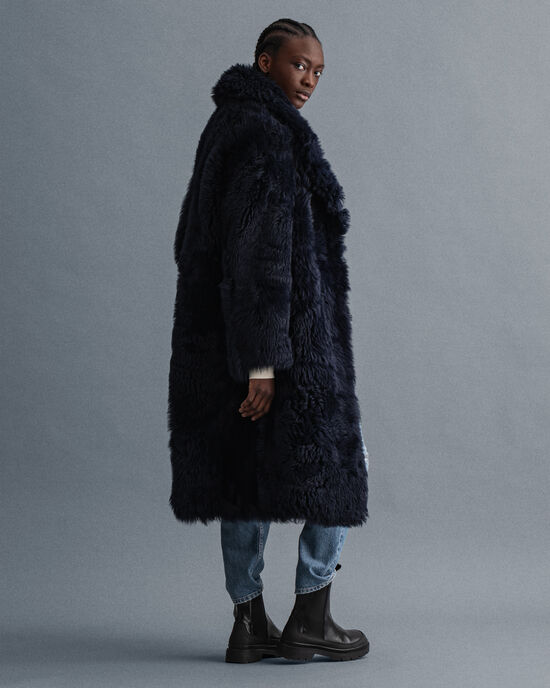 Cappotto oversize in shearling