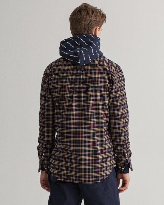Camicia Oxford pettinato a quadri regular fit