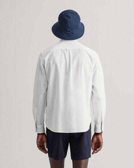 Camicia in twill di cotone fiammato regular fit