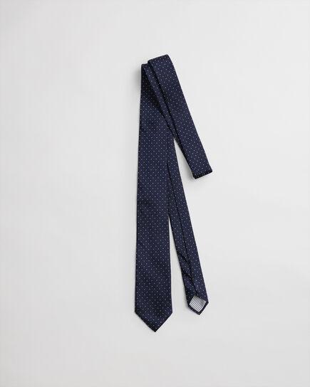 Cravatta di seta a pois