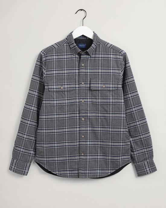 Camicia giacca a quadri imbottita