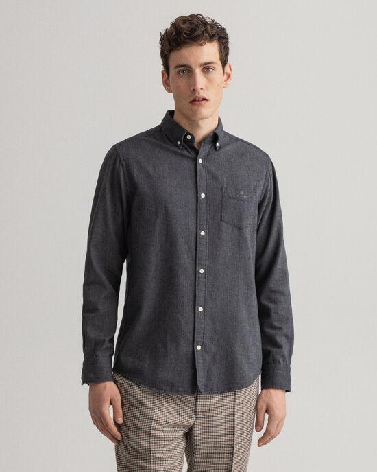 Camicia in flanella con motivo a spina di pesce regular fit