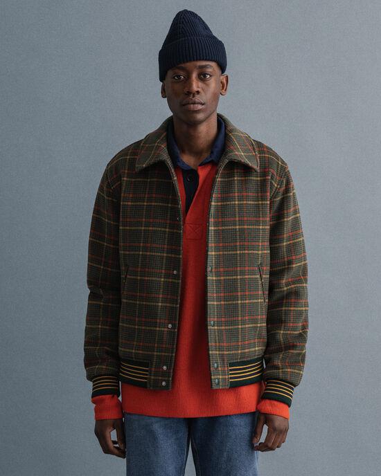 Giacca in lana a quadri