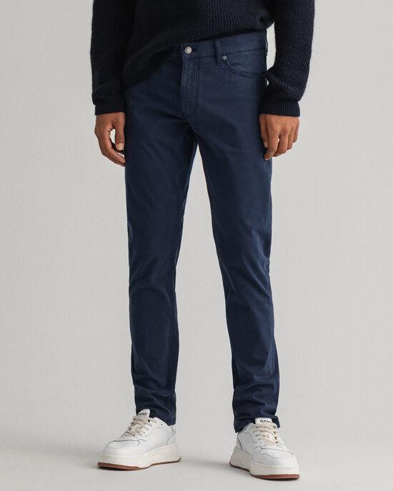 Jeans Maxen in raso extra slim fit