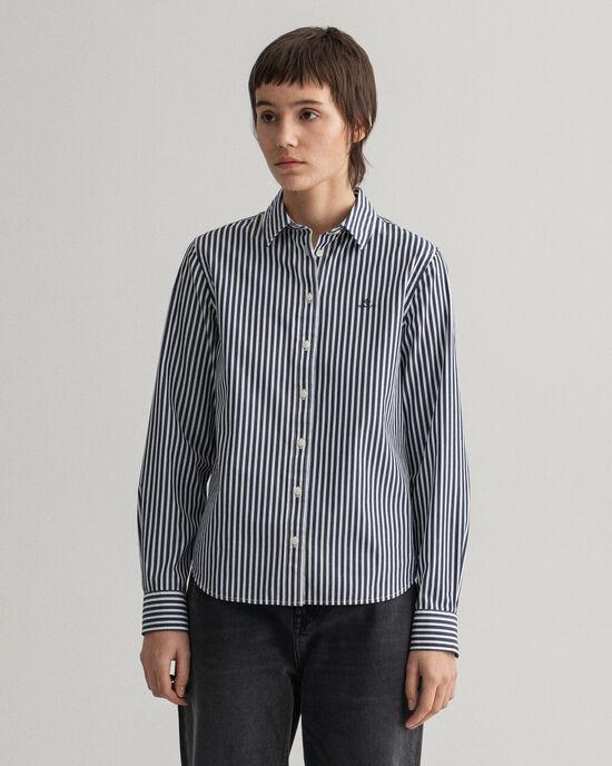Camicia in broadcloth a righe