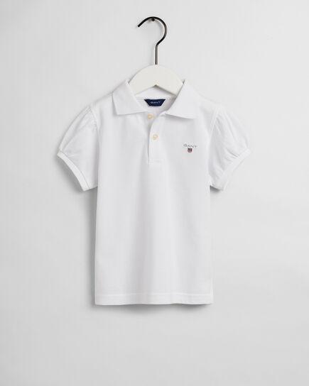 Polo Original in piqué con maniche a palloncino girls