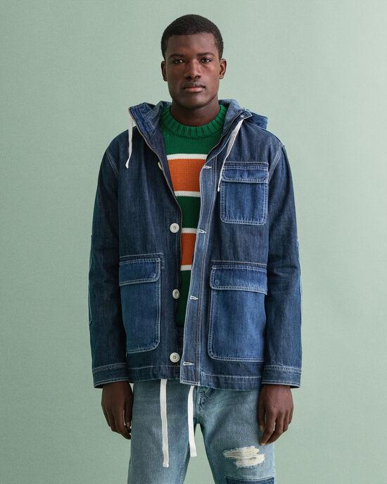 Parka di jeans corto