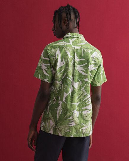 Camicia a maniche corte con stampa Palm Breeze regular fit